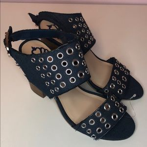 Fergalicious slingback jean heels